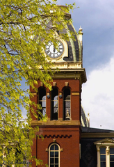 West Virginia University - Woodburn Hall - tower detail -1
