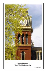 West Virginia University - Woodburn Hall - tower detail - 2